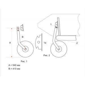 Колеса транцевые для лодок НДНД (перекидные, спарка, 212)