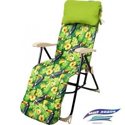 Кресло Nika Haushalt с подножкой и матрасом складное HHK5 (туканы)