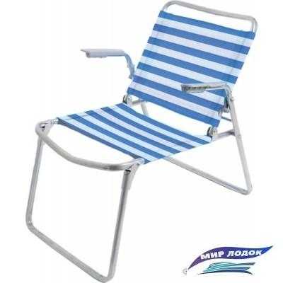 Кресло Nika складное К1 (синий/белый)