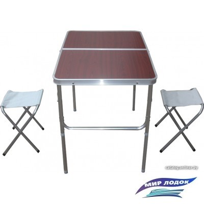 Стол со стульями Ausini VT-07 (коричневый)