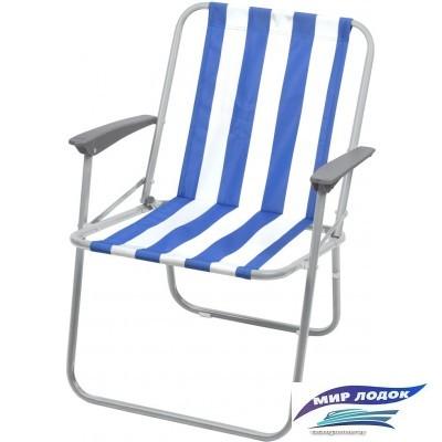 Кресло Nika складное КС4 (синий/белый)