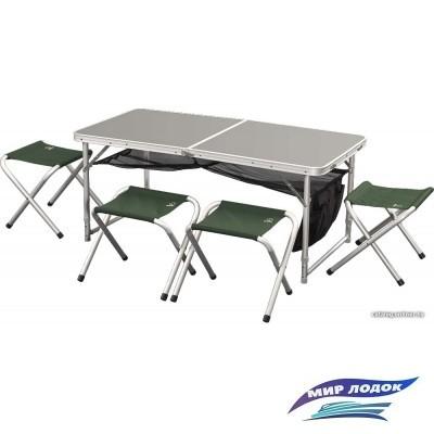 Стол со стульями Greenell FTFS-1 (зеленый)
