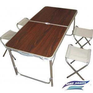Стол со стульями Ausini VT-05 (коричневый)