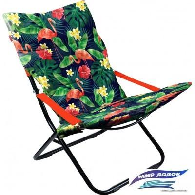 Кресло Nika Haushalt складное с мягким матрасом HHK4P (фламинго)
