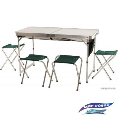 Стол со стульями Greenell FTFS-1 V2 (зеленый)