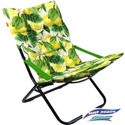 Кресло Nika Haushalt складное с мягким матрасом HHK4P (лимоны)