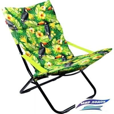 Кресло Nika Haushalt складное с мягким матрасом HHK4P (туканы)