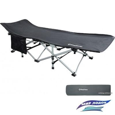 Раскладушка KingCamp Oversized Folding Bed KC8009 (черный)
