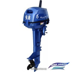 Лодочный мотор Allfa T9.8 (синий)