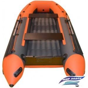 Моторно-гребная лодка BoatsMan BT320A с НДНД (серый/оранжевый)