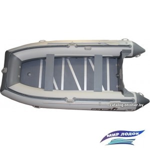 Моторно-гребная лодка Polar Bird PB-400E стеклокомпозит (серый)