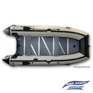 Моторно-гребная лодка Polar Bird PB-420E стеклокомпозит (серый)