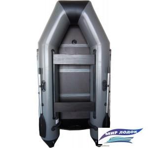 Моторно-гребная лодка Vivax Т280 (пол-книга, серый)