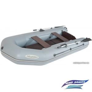 Моторно-гребная лодка Лоцман М-290 ЖС киль (серый)