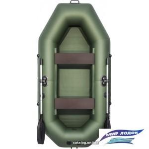 Моторно-гребная лодка Аква-Мастер 260 (зеленый)