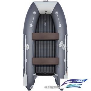 Моторно-гребная лодка Таймень LX 3400 НДНД (графит/светло-серый)