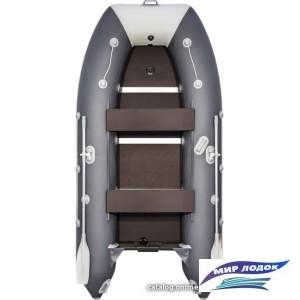 Моторно-гребная лодка Таймень 3400 СК (графит/светло-серый)