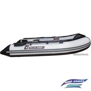 Моторно-гребная лодка Снегирь Polar Bird Merlin 385M (черный/белый)