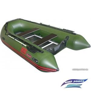 Моторно-гребная лодка Мнев и К Комбат CMB-380Pro (зеленый)