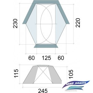 Треккинговая палатка BASK SHARK FIN FLAP