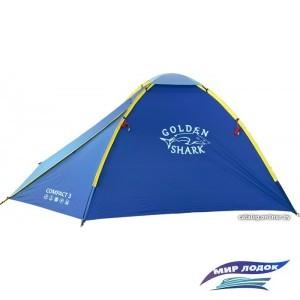 Треккинговая палатка GOLDEN SHARK Compact 3 (синий)
