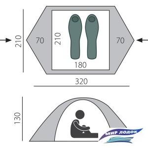 Треккинговая палатка BTrace Malm 3